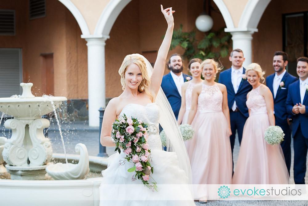 Fun with bride