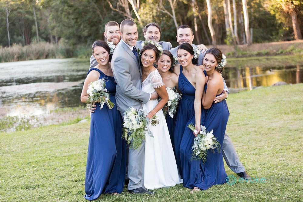 Bridal party at thunderbird park