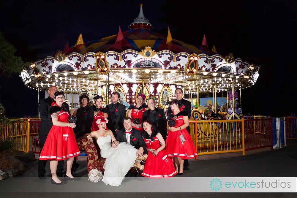 Movieworld wedding