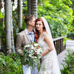 Wesley & Tori's Mt Cotton Rainforest Gardens Wedding