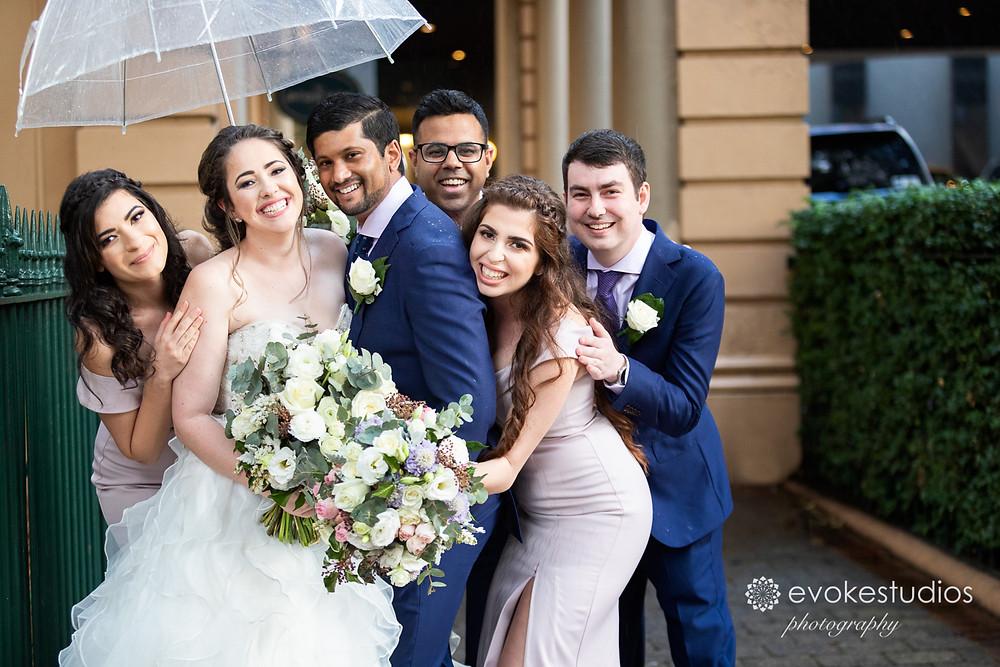 Raining wedding photos