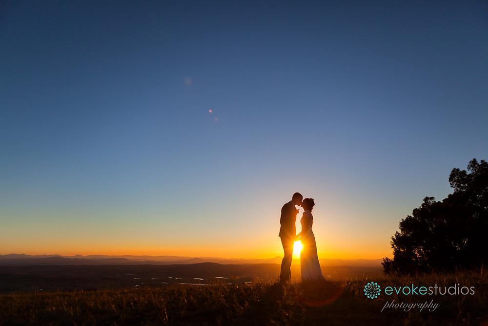 Wedding sunset