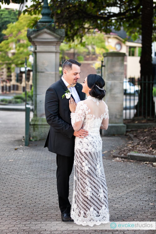 Bride & Groom Botanical Gardens