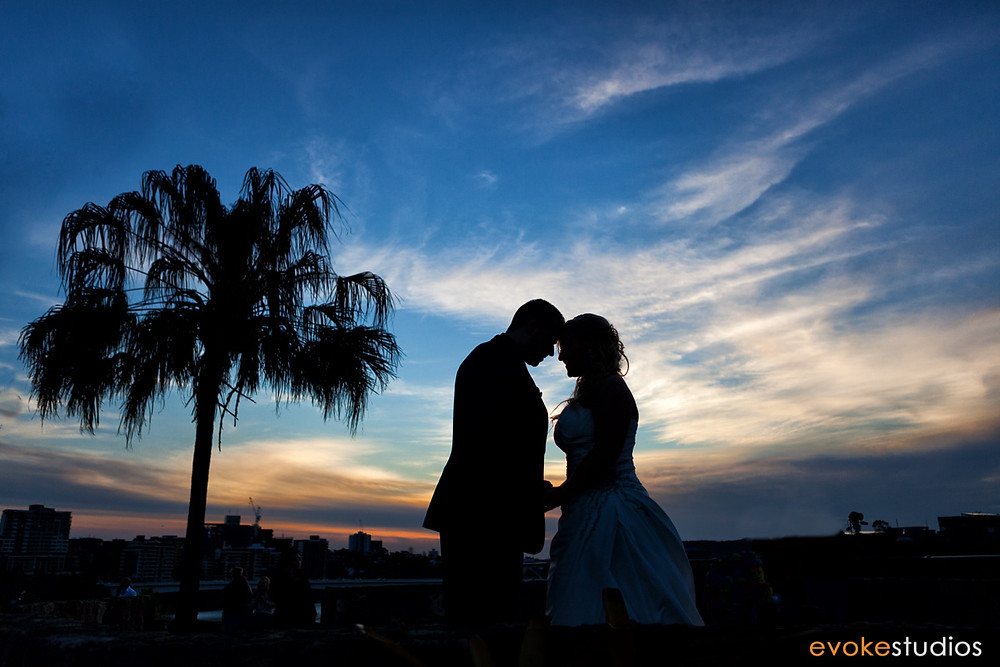 Brisbane wedding sunset