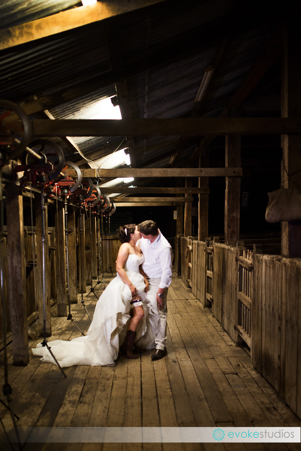 Sexy woolshed wedding photography