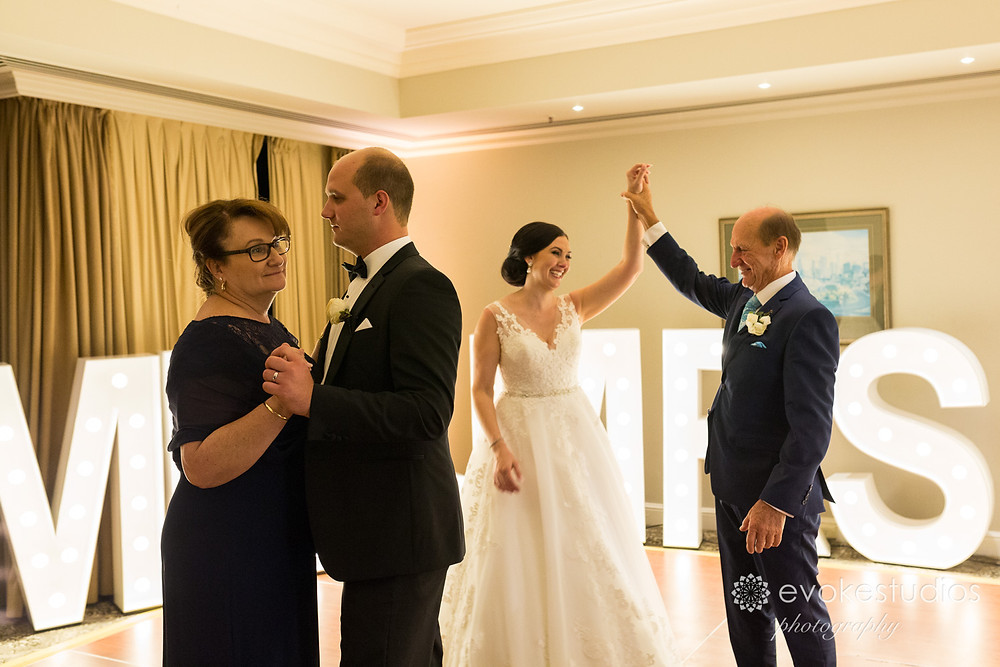 Bridal waltz with parents