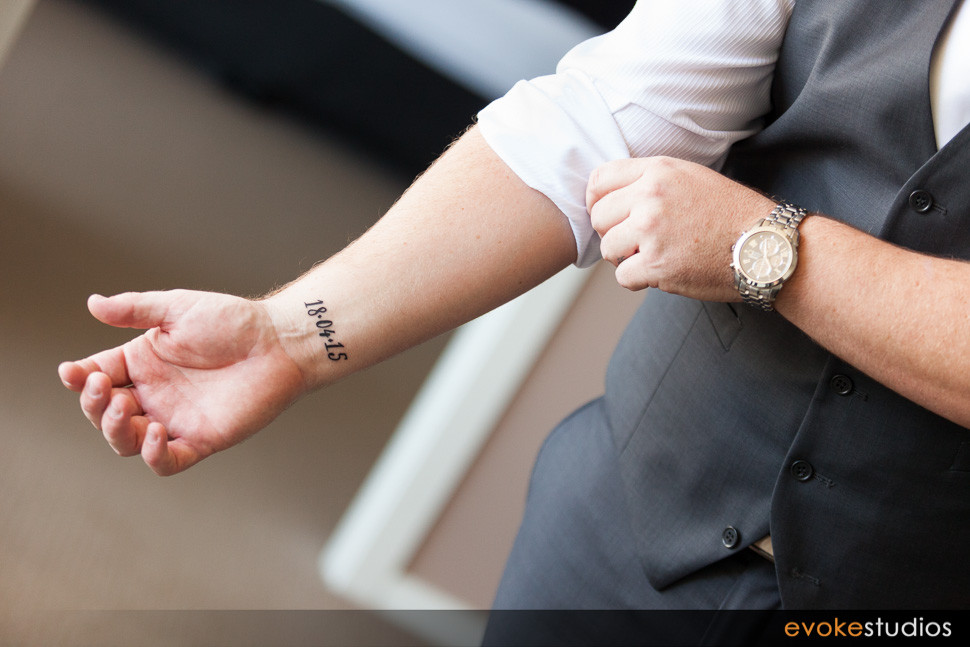 wedding date tattoo