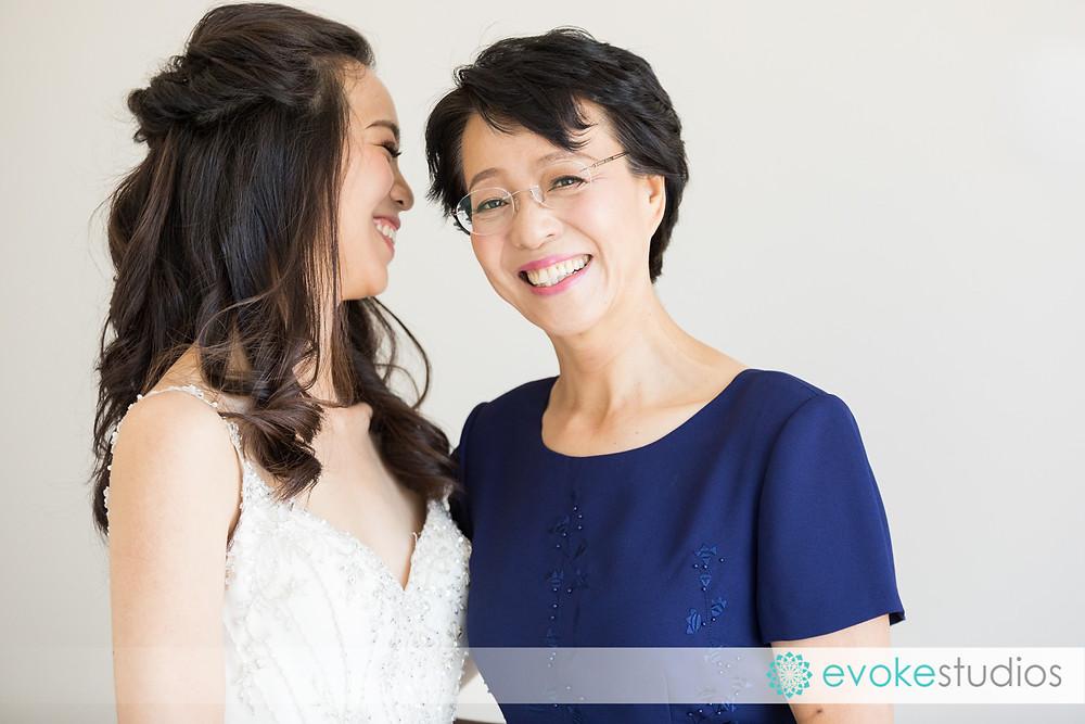 bride & mum