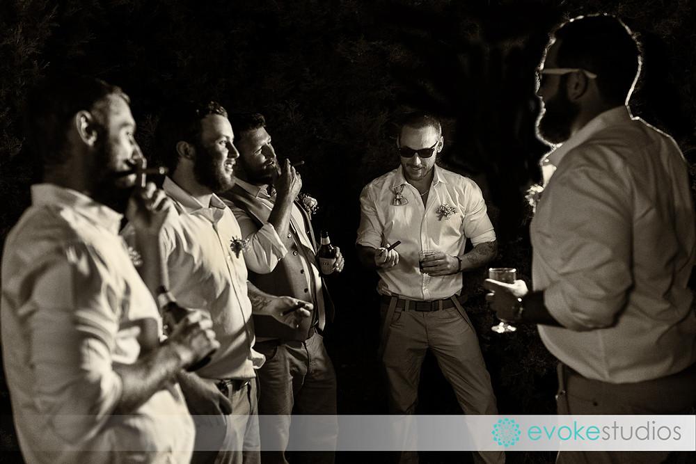 Cigar groomsmen