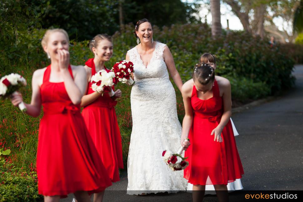 Bride sneaking a peak