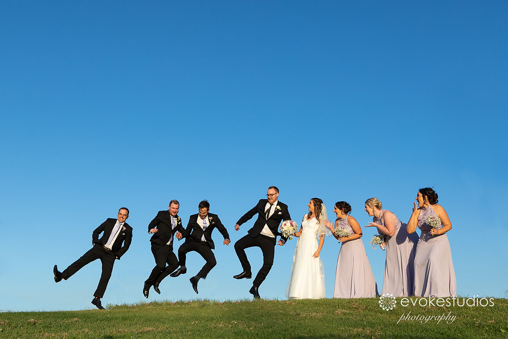 Fun with groomsmen