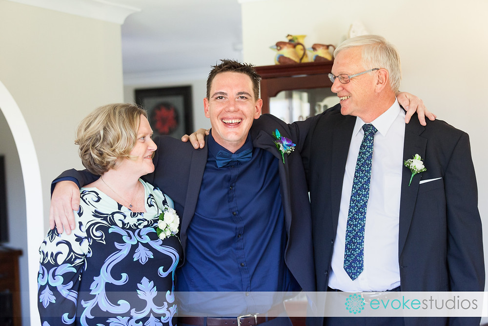 Grooms family