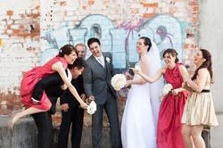 Fun wedding photographer brisbane