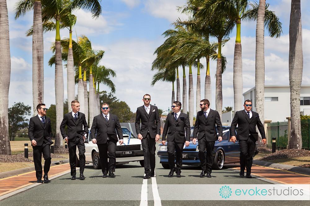 Cool groomsmen