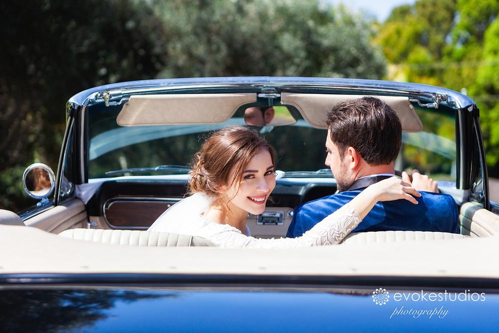 Wedding car mustang