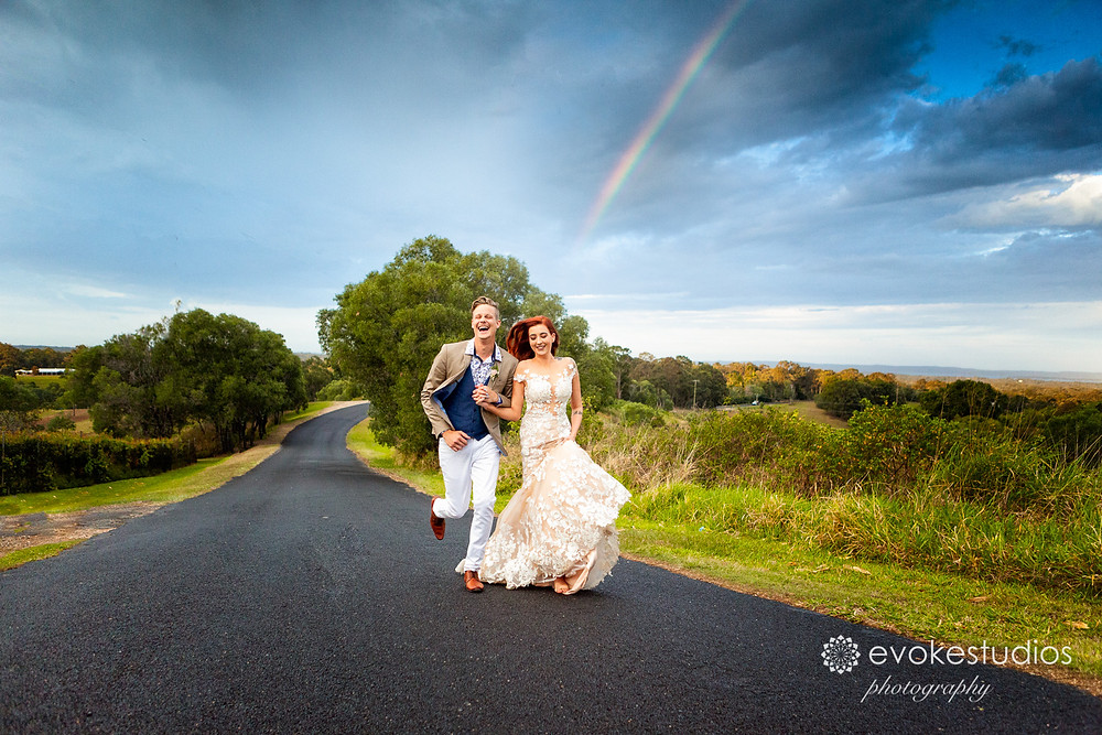 Rainbow wedding photography