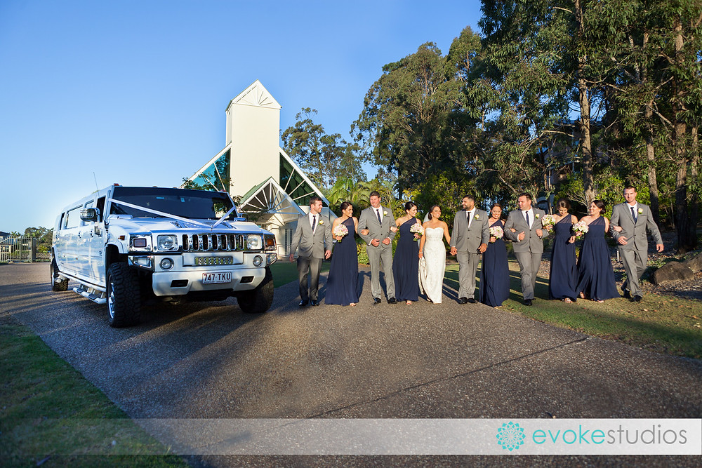 The hummer for large bridal party