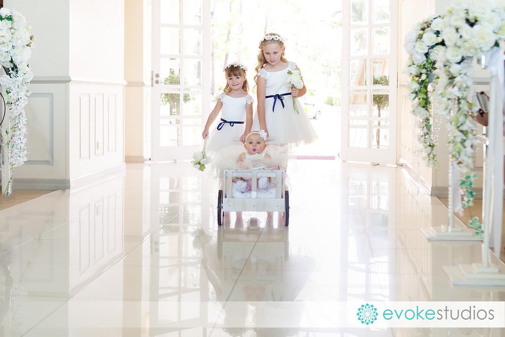 Flowergirl entry baby cart