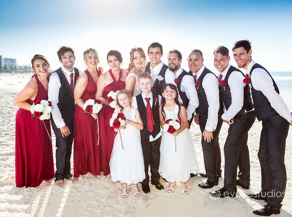 Whole bridal party
