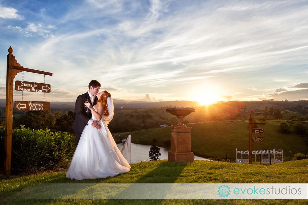 Wedding sunset Glengariff