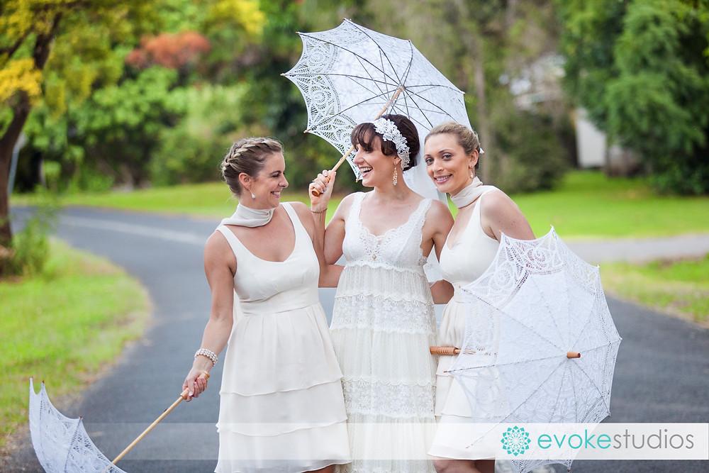 vintage wedding parasols