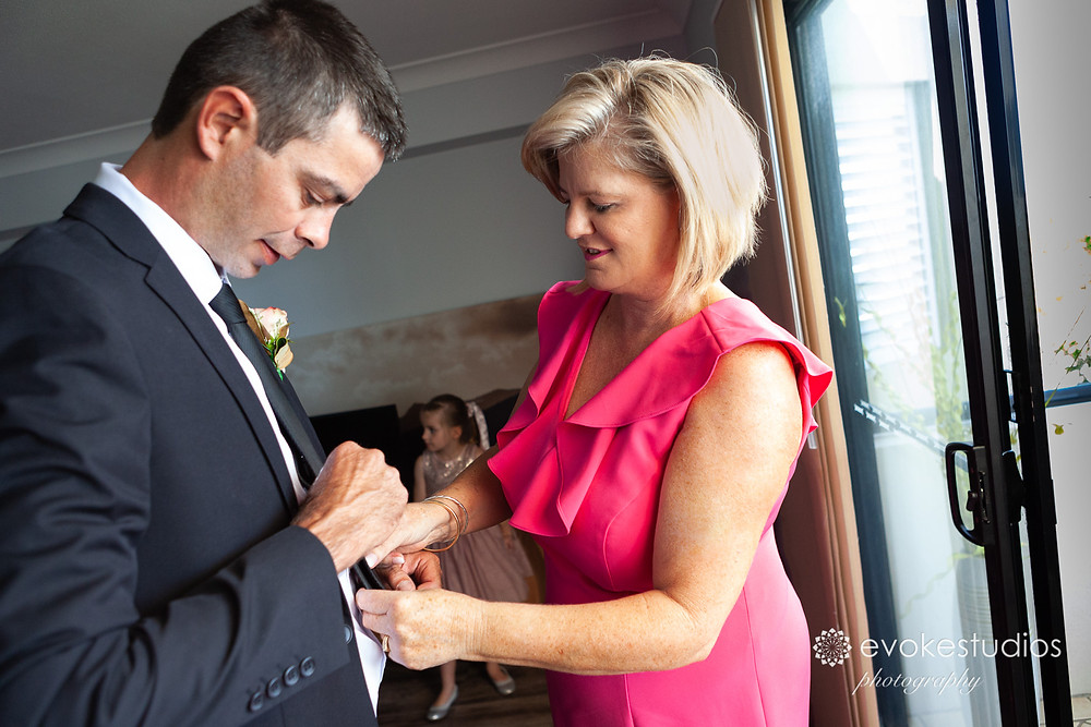 Grooms mum still on hand