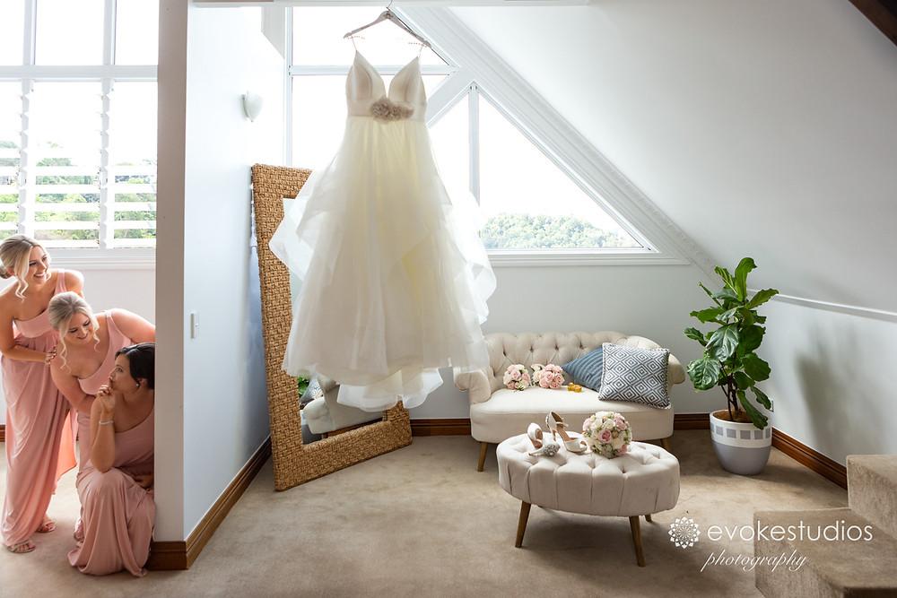 Sneak look at wedding dress