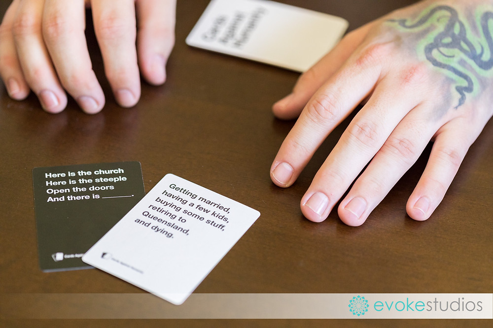 Card against humanity at a wedding