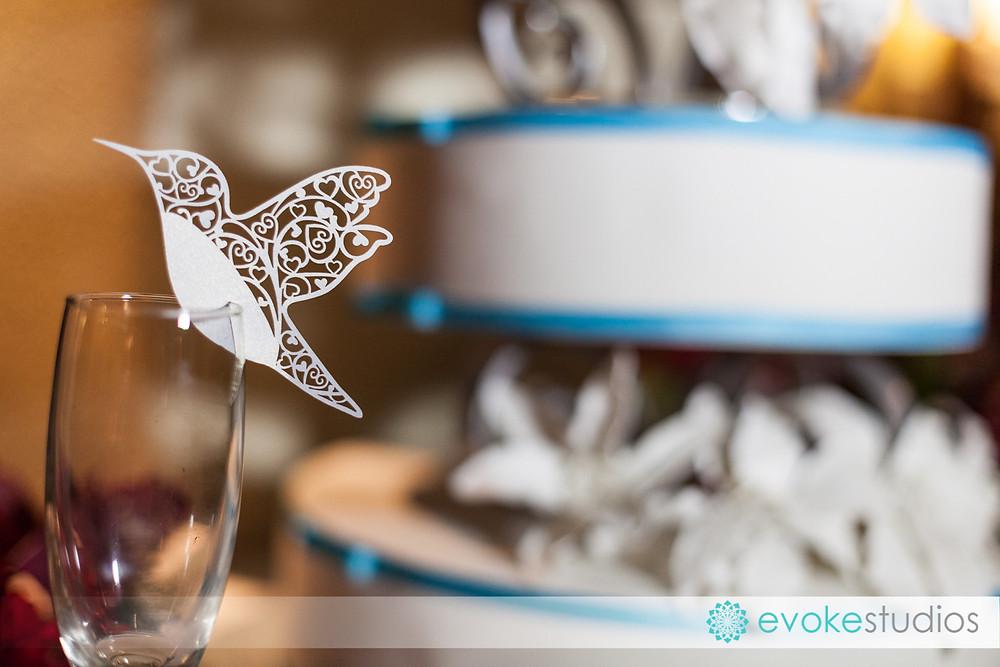 Love birds paper decoration