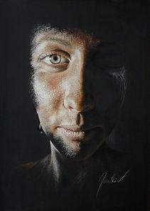 tableau portrait pastel sec johann mouclier pastelliste