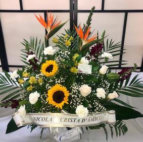 Autumn sunflower arrangement