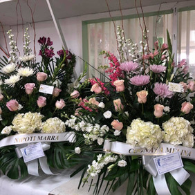 Pastel pink arrangements