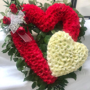 Red heart with white miniature heart
