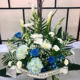 Modern blue arrangement