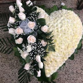 Simple white heart