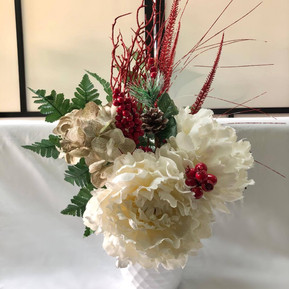 Chrisanthemum holiday arrangement