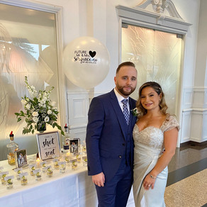 Beautiful bride and her husband to be