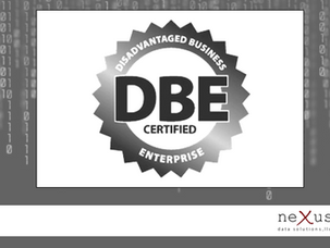 neXus is DBE Certified!!!