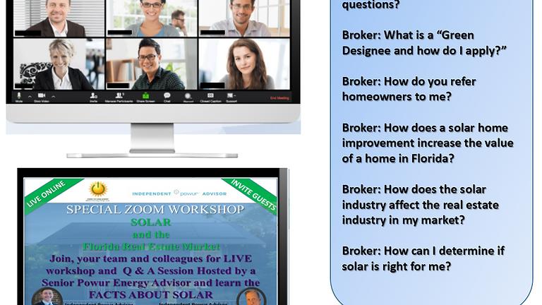 ONLINE Florida Realtor Solar Market Workshop