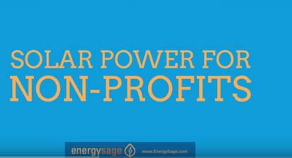 Non Profits Go solar