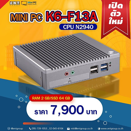 "Mini PC K6-F13A (RAM2/SSD64GB)""K6โฉมใหม่"""