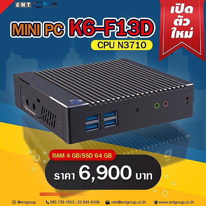 "Mini PC K6-F13D (RAM4/SSD64GB)""K10โฉมใหม่"""