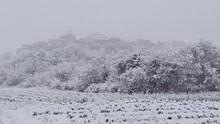 La Bastide de Lussan sous la neige