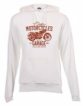 Hoodie 260 White Motorcycle Garage