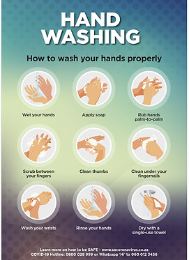 Hand Wash Poster Poster A2 (Also available A1 & A3)