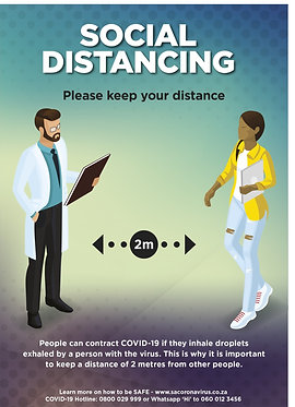 Social Distance Poster A2 (Also available in A1 & A3)