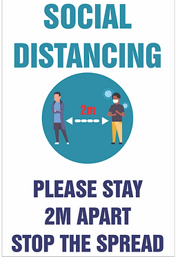 Covid Posters Laminated Social Distance