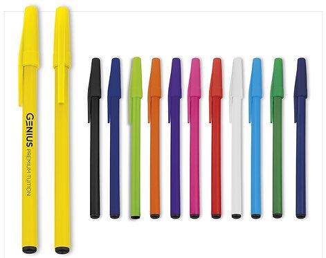 1000 Plastic Pens with logo