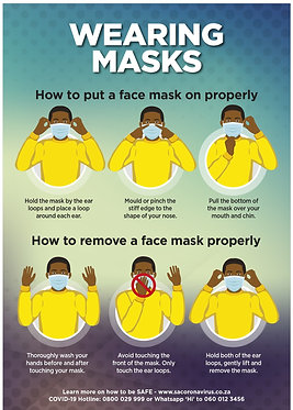 Wearing Mask Poster A2 (A1, A3 also available)