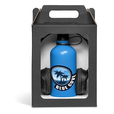 Giftset- Headphones & Aluminium bottle